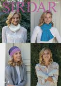 Sirdar Ladies Hat, Scarves & Wrist Warmers No.1 Knitting Pattern 8047  DK
