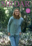 Sirdar Ladies Jacket No.1 Knitting Pattern 8052  DK