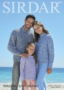 Sirdar Family Sweaters Imagination Knitting Pattern 8059  Chunky