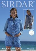 Sirdar Ladies Waistcoats Imagination Knitting Pattern 8061  Chunky
