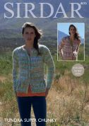 Sirdar Ladies Cardigans Tundra Knitting Pattern 8070  Super Chunky