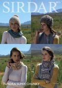Sirdar Ladies Scarves, Snood & Hats Tundra Knitting Pattern 8072  Super Chunky