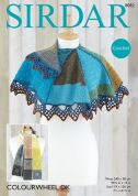 Sirdar Ladies Wrap & Scarf Colourwheel Crochet Pattern 8082  DK