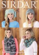 Sirdar Ladies Hats & Scarves Tundra Knitting Pattern 8084  Super Chunky