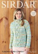 Sirdar Ladies Sweater Tundra Knitting Pattern 8085  Super Chunky