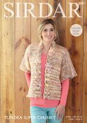 Sirdar Ladies Jacket Tundra Knitting Pattern 8087  Super Chunky