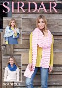 Sirdar Ladies Wrap, Scarf & Snood Gorgeous Knitting Pattern 8096  Super Chunky