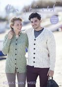 Hayfield Ladies & Mens Cardigans Bonus Tweed Knitting Pattern 8101  Aran