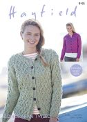 Hayfield Ladies Cardigans Bonus Tweed Knitting Pattern 8102  Aran