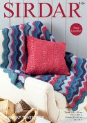 Sirdar Home Cushion & Throw Harrap Tweed Crochet Pattern 8106  DK