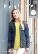Hayfield Ladies Jacket Illusion Knitting Pattern 8109  DK