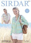 Sirdar Ladies Jackets Crofter Knitting Pattern 8112  DK