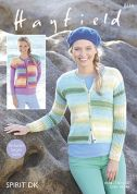 Hayfield Ladies Cardigans Spirit Knitting Pattern 8114  DK