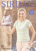 Sirdar Ladies Tops Toscana Knitting Pattern 8116  DK