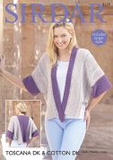 Sirdar Ladies Jacket Toscana Knitting Pattern 8119  DK