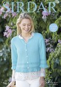 Sirdar Ladies Cardigan No.1 Knitting Pattern 8129  DK