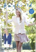 Hayfield Ladies Jacket & Waistcoat Sundance Knitting Pattern 8139  DK