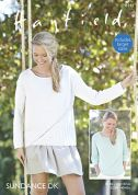 Hayfield Ladies Tops Sundance Knitting Pattern 8141  DK