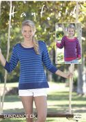 Hayfield Ladies & Girls Tops Sundance Knitting Pattern 8144  DK