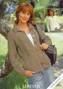 Hayfield Ladies Cardigans Bonus Knitting Pattern 8485  Aran