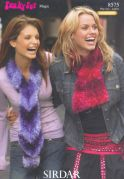 Sirdar Ladies Scarves Knitting Pattern 8575  DK