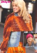 Sirdar Ladies Hat & Scarf Knitting Pattern 8576  DK