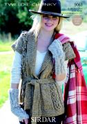 Sirdar Ladies Jacket Knitting Pattern 9063  Chunky