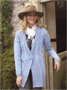Sirdar Ladies Cardigan Knitting Pattern 9112  DK