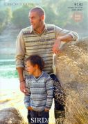 Sirdar Men & Boys Sweater & Tank Top Crofter Knitting Pattern 9130  DK