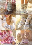 Sirdar Family Socks Crofter Knitting Pattern 9135  DK