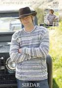 Sirdar Mens & Boys Sweaters Knitting Pattern 9203  Chunky