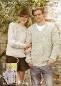 Hayfield Family Sweaters Bonus Knitting Pattern 9219  Aran