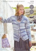Sirdar Ladies Cardigans Knitting Pattern 9259  Chunky