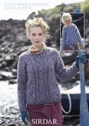 Sirdar Ladies & Girls Sweater & Hoodie Knitting Pattern 9308  Chunky