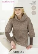 Sirdar Ladies Sweater Knitting Pattern 9324  DK
