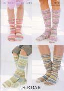 Sirdar Family Socks Crofter Knitting Pattern 9338  DK