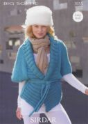 Sirdar Ladies Cardigans Knitting Pattern 9355  Super Chunky