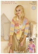 Sirdar Ladies & Girls Cardigans Summer Stripes Knitting Pattern 9424  DK