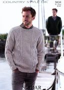 Sirdar Mens Sweaters Country Style Knitting Pattern 9434  DK