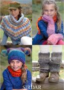 Sirdar Ladies & Girls Cape, Hat, Wrist & Leg Warmers Indie Knitting Pattern 9454  Super Chunky