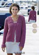 Sirdar Ladies Jacket Country Style Crochet Pattern 9506  4 Ply