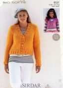 Sirdar Ladies & Girls Cardigans Big Softie Knitting Pattern 9531  Super Chunky