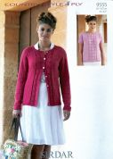 Sirdar Ladies Cardigan & Top Twin Set Country Style Knitting Pattern 9555  4 Ply
