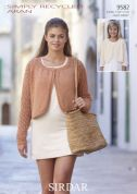 Sirdar Ladies & Girls Boleros Knitting Pattern 9582  Aran