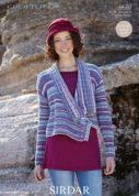Sirdar Ladies Jacket Crofter Knitting Pattern 9597  DK