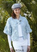 Sirdar Ladies Kimono Jacket Big Softie Knitting Pattern 9603  Super Chunky