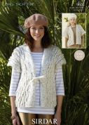 Sirdar Ladies Waistcoats Big Softie Knitting Pattern 9604  Super Chunky