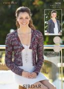 Sirdar Ladies Jackets Firefly Knitting Pattern 9608