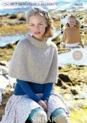 Sirdar Ladies & Girls Capes Softspun Knitting Pattern 9635  Chunky