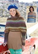 Sirdar Ladies Capes Montana Knitting Pattern 9642  DK